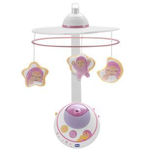 CHICCO Подвеска мобиль для кровати Волшебные звезды розовая, с д.у 0м арт. 24291