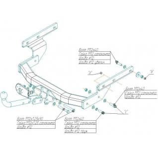 Фаркоп VW Transporter T4 2119-a Bosal