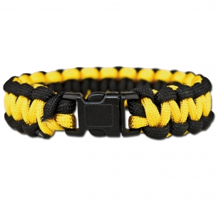 Made in Germany Браслет выживания из паракорда, цвет желто-черный