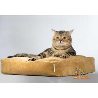 Лежанка для кошек и собак прямоугольная, велюр
