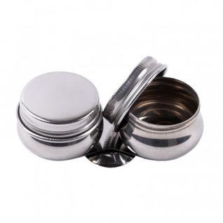 Масленка двойная с крышкой Сонет, диам. 4,2 см, высота 2 см, метал.DK11008
