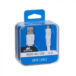 Кабель USB 2.0 - Micro USB, М/М, 1.2 м, пл, RivaCase, белый, PS6000 WT12