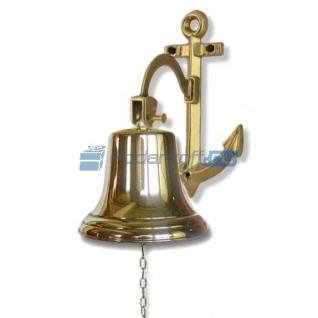 Сувенирная рында на кронштейне-якоре, корабельный колокол, d 18 см, цвет золото