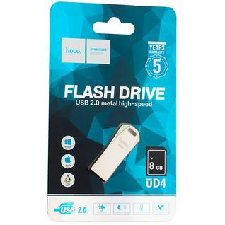 Флеш-накопитель Hoco UD4 Intelligent high-speed Flash Drive metal 8Gb Серебристый