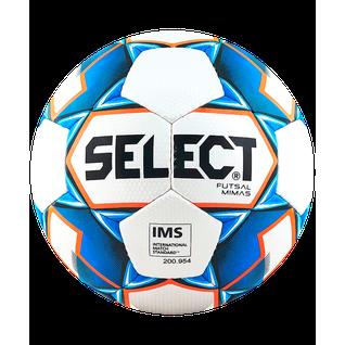 Мяч футзальный Select Futsal Mimas Ims 852608 №4, белый/синий/оранжевый/черный (4)