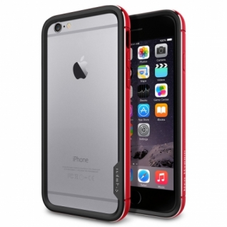 Бампер для iPhone 6 Neo Hybrid EX Metal цвет Metal Red (SGP11189)