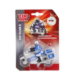"""Мотоцикл """"Технопарк"""" Металл. 10См, С Фигуркой Полиция/Вс, В Ассорт. На Блистере"""