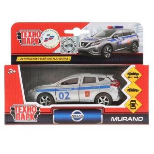 Тм Технопарк. Машина Металл. Nissan Murano Полиция 12см, Открыв.Двери, Инерц.