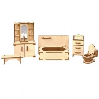 """Сборная деревянная мебель """"Волшебный 3D-город"""" - Ванная Большой слон"""