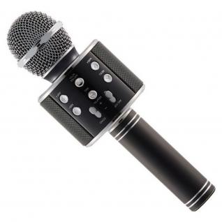 Беспроводной караоке-микрофон с колонкой и bluetooth WS-858 Black Караоке микрофон с колонкой ws-858 No name