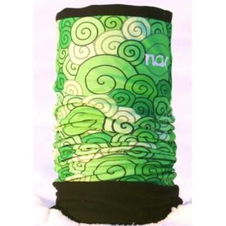 Зимняя многофункциональная бандана Зеленая с черным