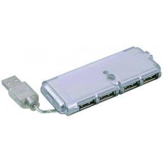 Разветвитель USB 2.0 Gembird UHB-C244, 4 порта, питание, блистер