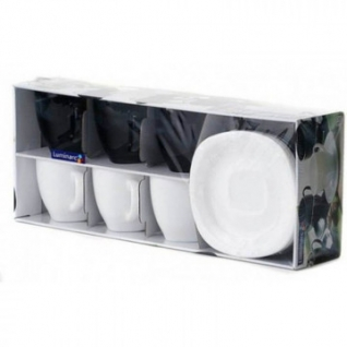Сервиз чайный CARINE BLACK AND WHITE 220мл (D2371)
