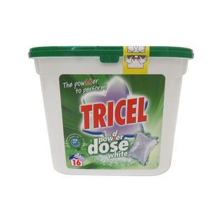 Капсулы для стирки белых тканей Tricel 16 шт.