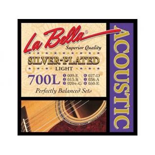 La Bella Струны для акустической гитары La Bella 700L посеребренные 009-050