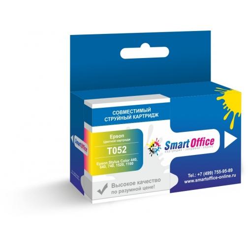 Картридж струйный T052 Т052040 (S020191) для Epson Stylus Color 440, 640, 740, 1520,1160 (цветной, color), совместимый 7448-01 Smart Graphics 851235