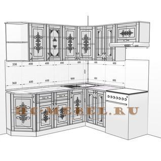 Кухня БЕЛАРУСЬ-9.9 модульная угловая, правая, левая