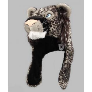 TrueFur Шапка меховая с ушами Черный барс H0045