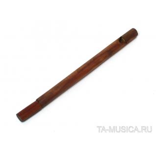 Лотосовая Птичья флейта малая из розового дерева