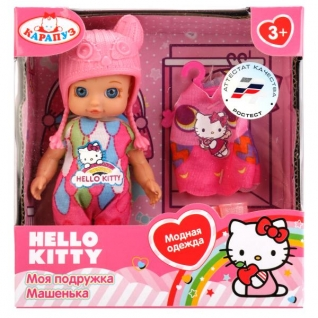 "Кукла ""Карапуз"" Hello Kitty 12см, Без Звука, С Доп. Одеждой И Аксесс., В Ассорт."