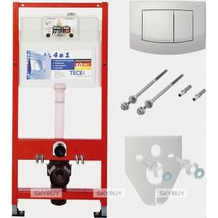 Система инсталляции для унитазов TECE Ambia K400200 4 в 1 с кнопкой смыва