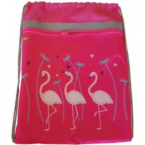 Мешок для обуви №1 School Фламинго 370x470 мм, карман сосветоотражателем 42469537