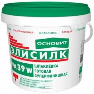 Шпаклевка Основит Элисилк РА39 W полимерная готовая суперфинишная /5,0 кг/