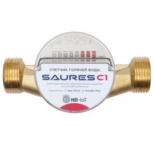 """Счетчик воды горячей с радиомодулем SAURES C1, 20мм 3/4"""" 130мм, NB-IoT МТС Счетчик воды горячей с радиомодулем SAURES C1, ДУ20, L130, NB-Io"""