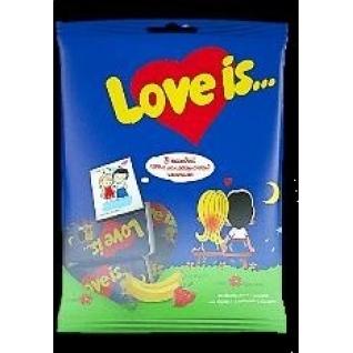 "Жевательная резинка  -  Ж/р ""Love is"" клубника - банан, 5шт*4,2 гр  с магнитиком"