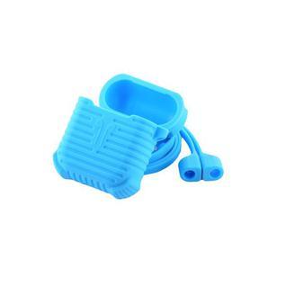 Чехол & гарнитура плоская силиконовые COTEetCI для AirPods CS8108-BL Suit Голубой