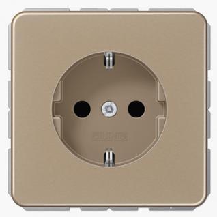 Розетка электрическая Jung CD1520GB SCHUKO 16A 250V~ с заземлением золотая бронза металл