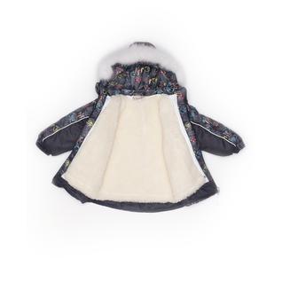 Комплект MalekBaby (Куртка + Полукомбинезон), С опушкой, №286/1 (Совы в очках+черный) арт.409ШМ/2