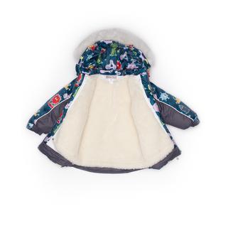 Комплект MalekBaby (Куртка + Полукомбинезон), С опушкой, №271/1 (Инопланетяне+серый) арт.409ШМ/2