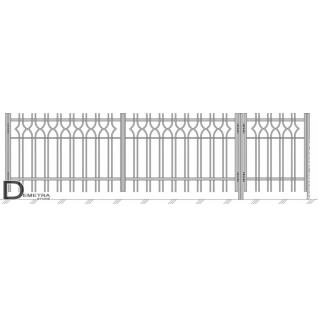 Кованые ворота и калитка В-003 (кв.м)