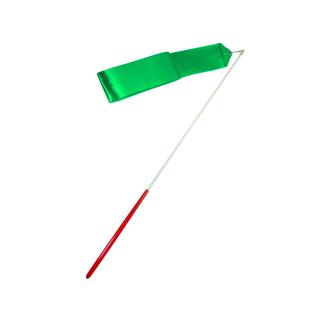 Лента для художественной гимнастики Amely Agr-201 6м, с палочкой 56 см, зеленый