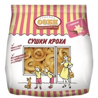 Сушки КРОХА ванильные Семейка ОЗБИ 200 г.