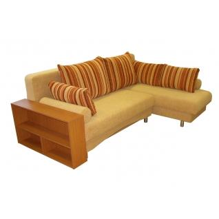 Палермо 1 угловой диван-кровать с боковиной - полкой