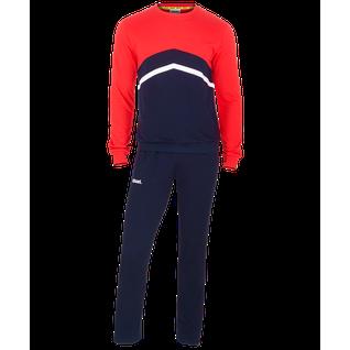 Тренировочный костюм детский Jögel Jcs-4201-921, хлопок, темно-синий/красный/белый размер YS
