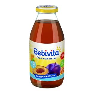 """Детский сок Bebivita """"Сливовый нектар"""" (с 4 мес.), 0.2 л"""