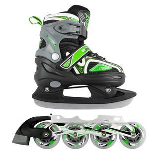 Набор подростковых коньков Maxcity Volt Ice, зеленый размер 39-42