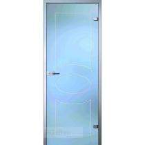 Стеклянная межкомнатная дверь Classic Кабзон с гравировкой (полотно)