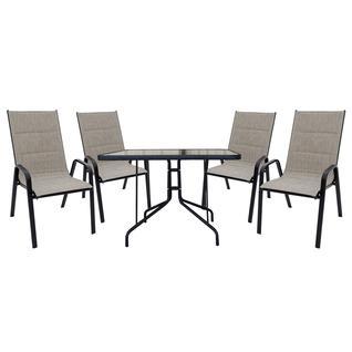 Комплект садовой мебели Бел Мебельторг Набор мебели Сан-ремо 2 мягкий (4 кресла+стол 100х100 см)