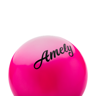 Мяч для художественной гимнастики Amely Agb-101, 19 см, розовый