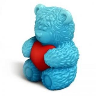 """Форма для мыла 3D """"Мишка Тедди сидит с сердечком"""""""