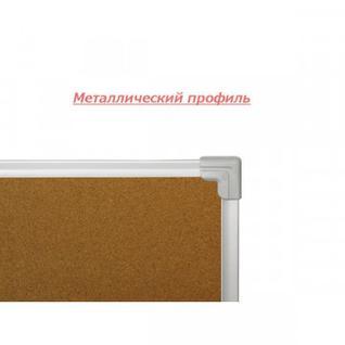 Доска пробковая для объявлений 100х60 металл. рама