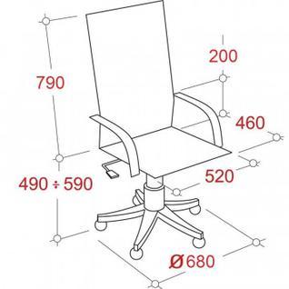 Кресло MT_Samurai SL-1.03, арм.сетка/кожа коричневая (033011030)