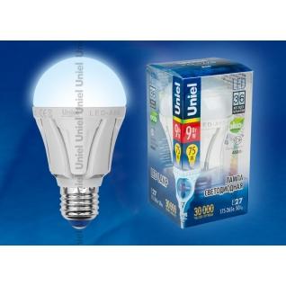 Uniel LED-A60-9W/NW/E27/FR ALP01WH пластик
