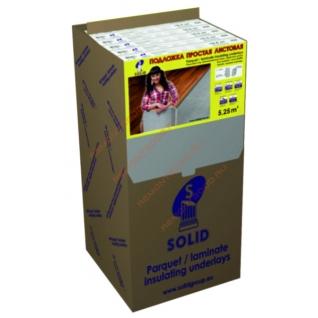 СОЛИД подложка XPS листовая 3мм (упак. 5,25 кв.м.) / SOLID подложка XPS листовая под ламинат 3х1050х500мм (упак. 10шт.=5,25 кв.м.) Солид