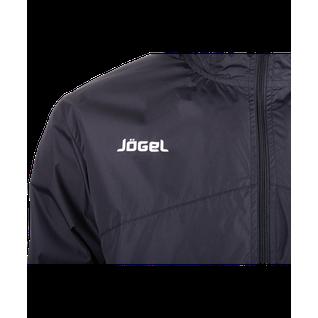 Куртка ветрозащитная детская Jögel Jsj-2601-061, полиэстер, черный/белый размер YM