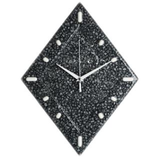 Часы настенные D-29 см Кварц окрашенный серый перламутр